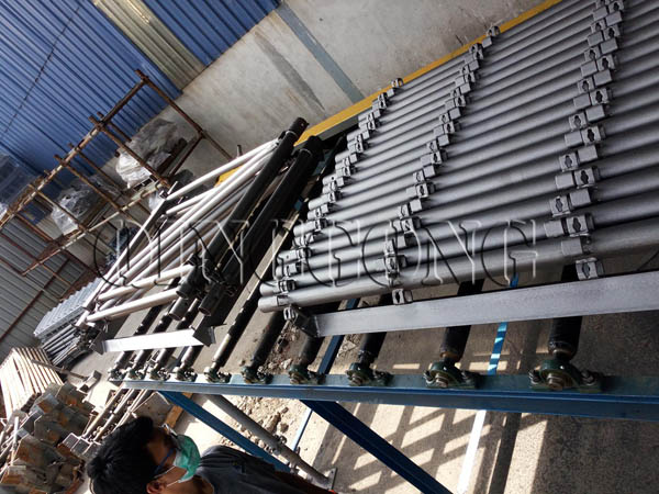 working process of scaffolding shot blasting machine