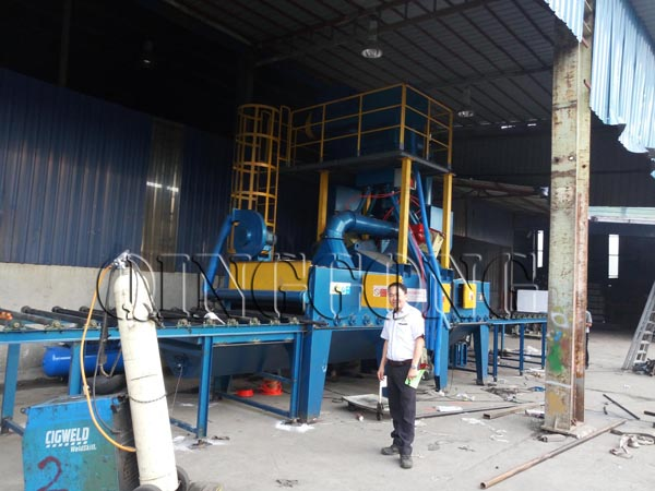 scaffolding shot blasting machine by QINGGONG Machinery